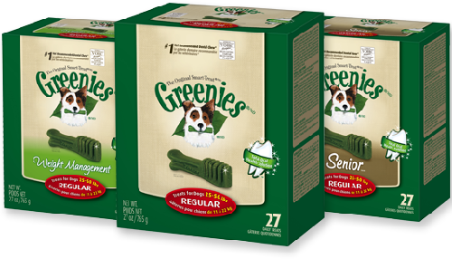 Greenies pet products for dogs