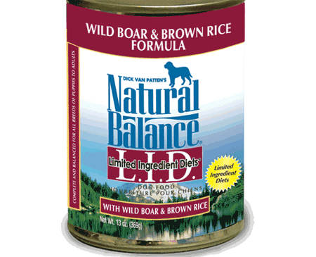 Wild Boar & Brown Rice Formula from Natural Balance