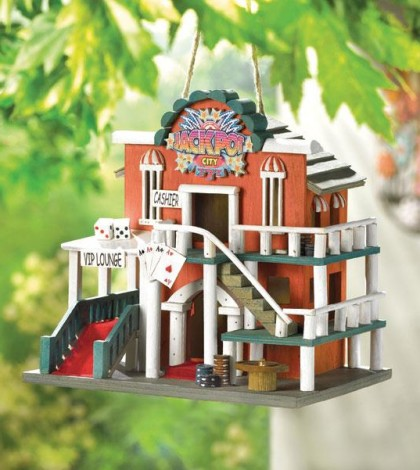 Adding the Jackpot City Birdhouse for your Garden Friends